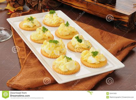 dinner canapes deviled egg appetizers royalty free stock images image