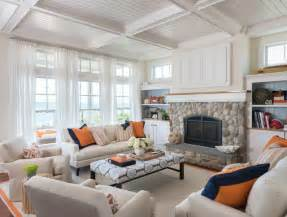 themed living room coastal chic beach style living room providence by kate jackson design