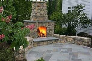 Backyard Creations Circular Fireplace Patio With Outdoor Fireplace Around The