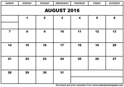 printable calendar 2016 july august september august 2016 calendar template