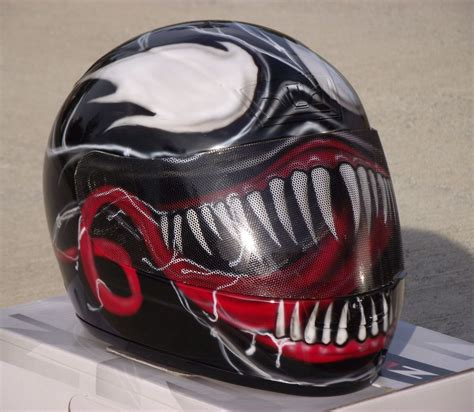 custom motocross helmets venom custom airbrush painted motorcycle helmet ebay