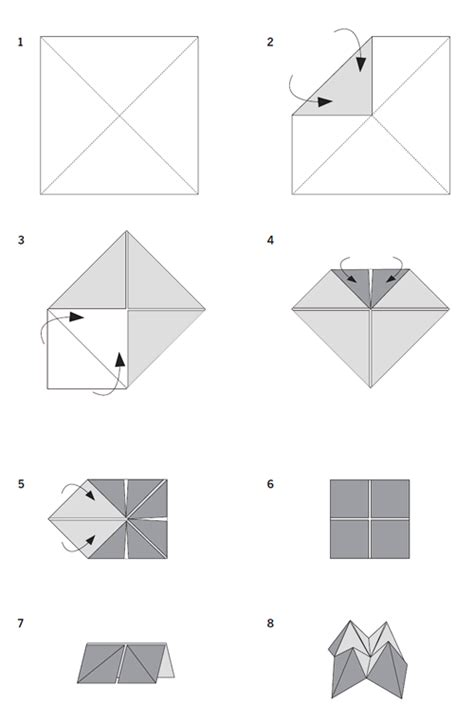 How Do You Fold A Paper Fortune Teller - cootie catcher inenart