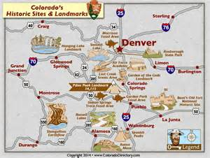 colorado interactive map colorado national historic and landmarks map