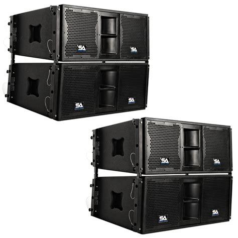 Speaker Line Array four premium passive 2x10 line array speakers with dual compression drivers ebay