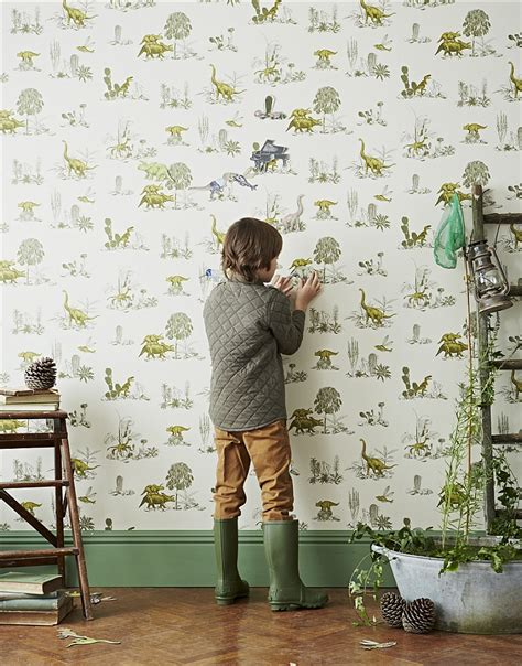 Yellow Bedroom Decorating Ideas by Kids Bedrooms With Dinosaur Themed Wall Art And Murals