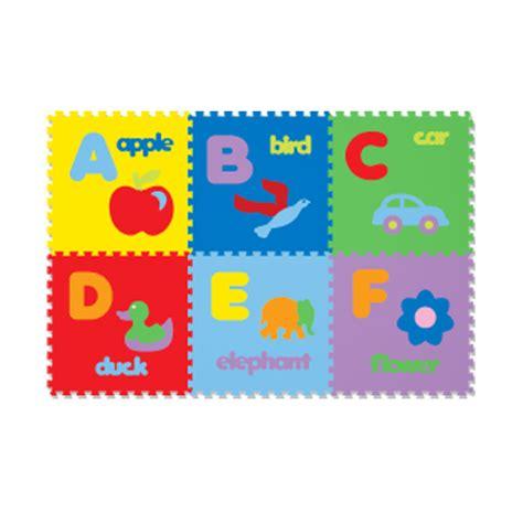 jual evamat puzzle gambar abjad karpet 26 pcs harga kualitas terjamin blibli