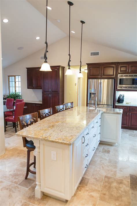 White L Shaped Kitchen With Island August Oak Woodworks Temecula California Kitchen Islands