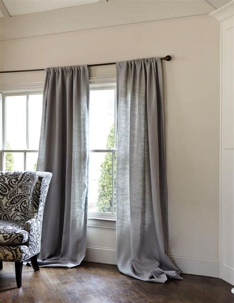 gray curtains for bedroom gray linen curtains gray pinterest the floor grey