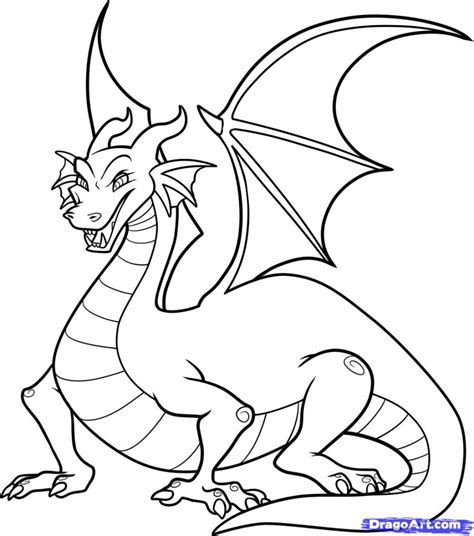Dragon Cartoon Drawing Free Printable Dragon Coloring Pages For Kids Drawings Inspiration Drawings For Coloring