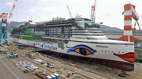 Schiffsdaten Aida Prima by Bau Der Quot Aida Prima Quot Im Zeitrafferfilm De