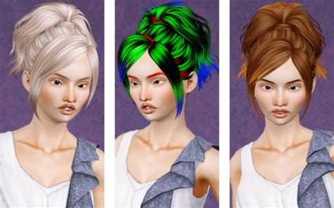 small ponytail hairstyle 228 by skysims sims 3 hairs the sims 3 wavy top ponytail hairstyle skysims 132