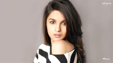 alia bhatt black  white dress  face closeup hd