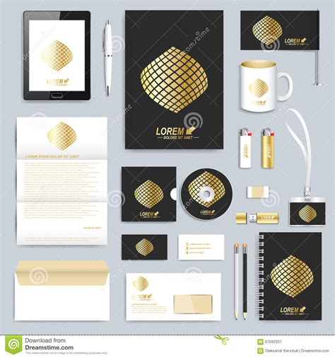 home design gold free set of vector corporate identity template modern business