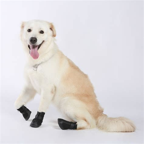 boots for dogs 4pcs black waterproof shoes boots shoes for pets