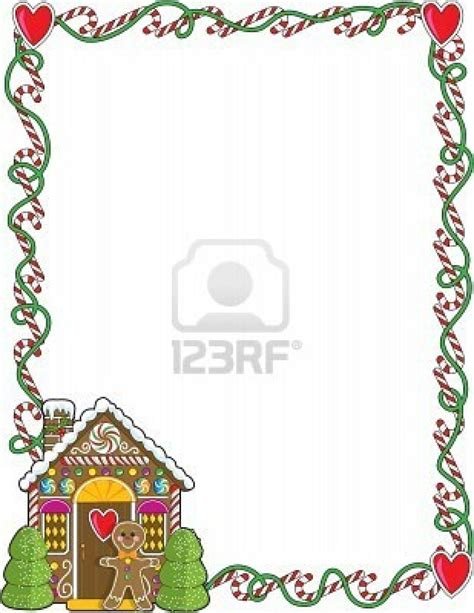 free printable gingerbread man border a border or frame featuring christmas candy canes and a