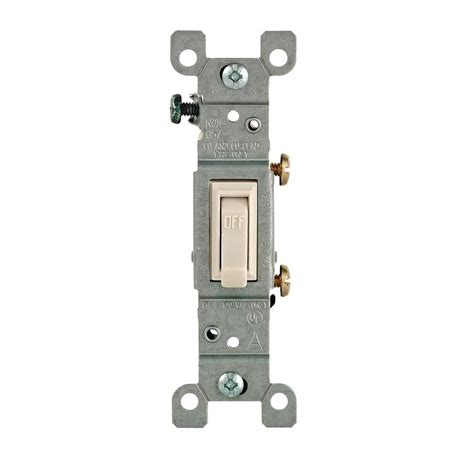 leviton 15 single pole toggle switch light almond r56