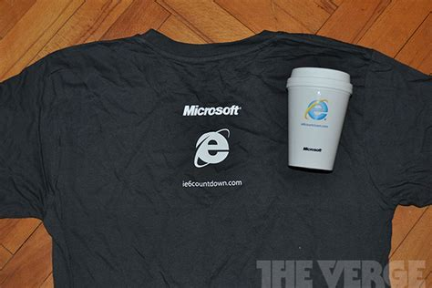 Tshirt Windows 10 Keren ie6 usage drops below one percent in us microsoft celebrates with cake and t shirts the verge