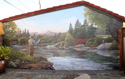 exterior wall murals fly fishing exterior wall mural contemporary exterior san francisco by murals by