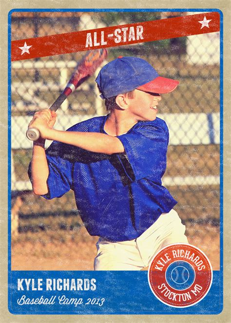 baseball card template psd photography photo card template retro sports baseball