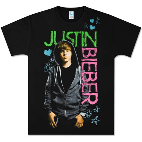 Kaos Justin Bieberjustin Bieber Tshirt justin bieber black felt pen logo t shirt
