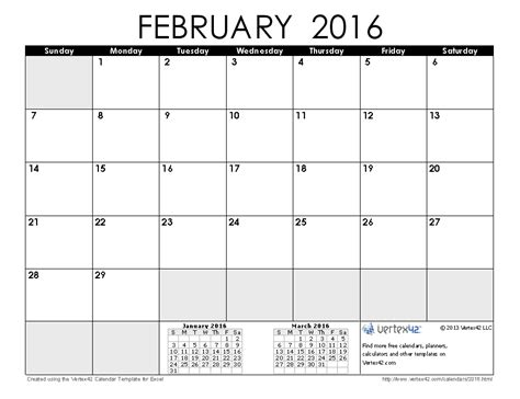 printable weekly calendar february 2016 2016 calendar templates and images