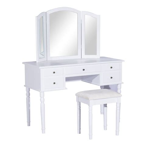 Vanity Set With Stool And Mirror by Convenience Boutique Dressing Vanity With Stool