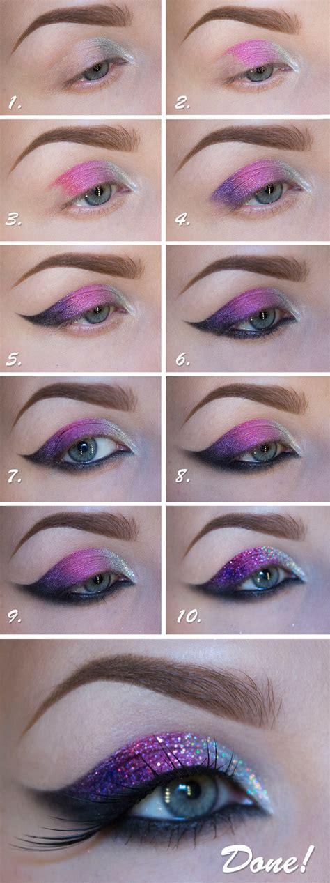 eyeliner looks tutorial diy glitter makeup diy ideas tips