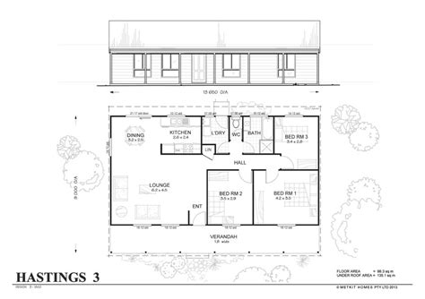 home floor plan kits hastings 3 met kit homes 3 bedroom steel frame kit