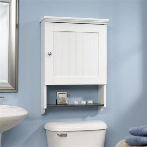 antique white over the toilet cabinet wall cabinet in soft white 414061