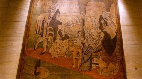 picasso curtain 187 picasso curtain painting moved to new york historical