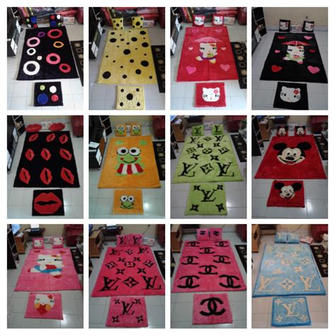 Karpet Karakter Chanel matras boneka net grosir karpet set bulu