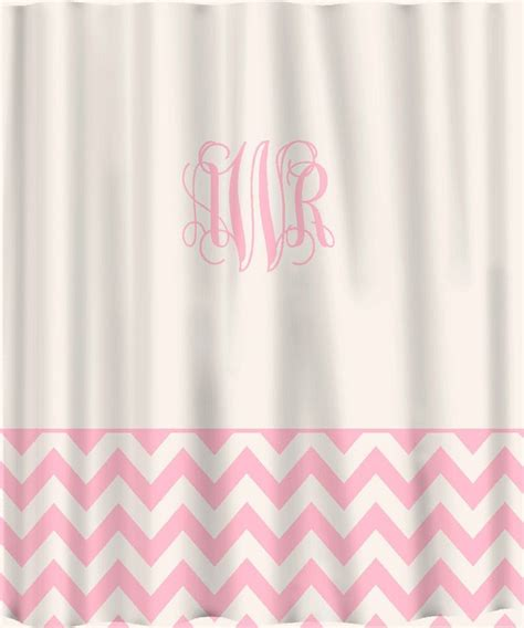 solid pink shower curtain pink custom shower curtain solid with chevron lower border
