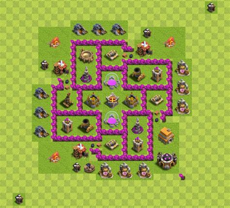 coc th6 base layout coc guide th6