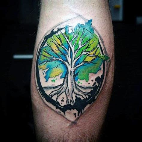 watercolor tree of life tattoo 100 tree of designs for manly ink ideas