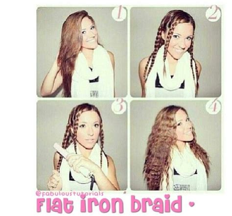 courtney kerrs waves with braids how to flat iron braid hair pinterest