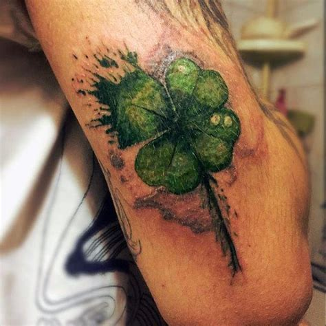 4 leaf clover tattoos for men 60 four leaf clover designs for luck ink
