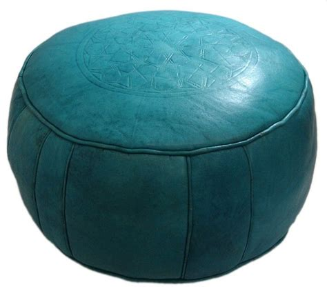 turquoise round ottoman turquoise round leather ottoman for the kids pinterest