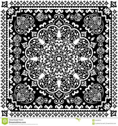 seamless rug pattern turkish rug style seamless pattern stock vector image