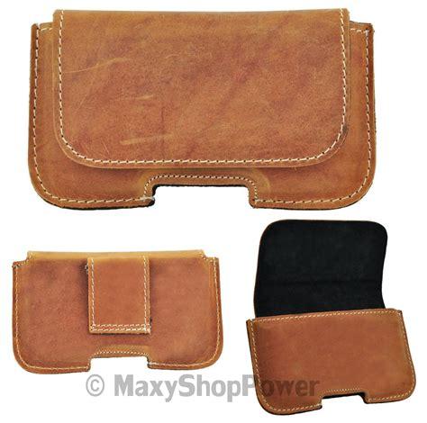 New Afida Maxy T2909 1 maxy classic 200a custodia da cintura orizzontale vera pelle universale brown