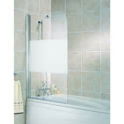 frosted shower screens over bath wickes half bath screen frosted silver effect frame 1400mm
