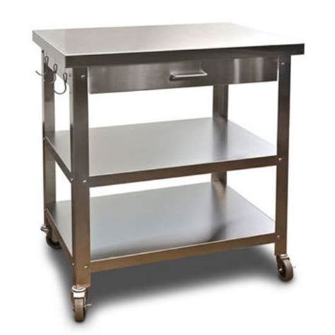 Stainless Steel Kitchen Island On Wheels by Danver Stainless Steel Kitchen Cart With Wheels