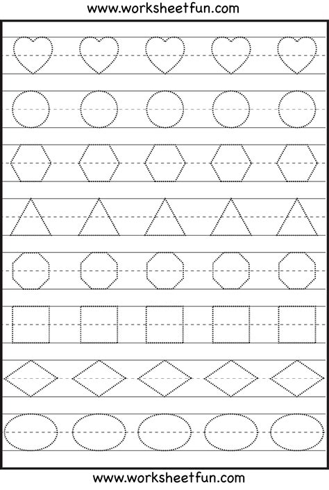 printable handwriting worksheets for preschool preschool shapes worksheet free printable worksheets