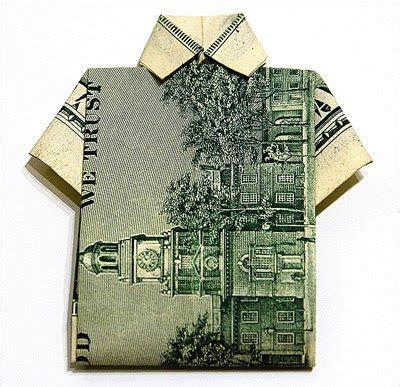 Origami Shirt Money - cool money origami pictures cool things collection
