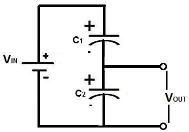 capacitor voltage divider calculator