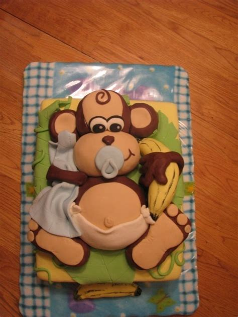 Monkey Themed Baby Shower by Baby Shower Cake Monkey Theme Cakes