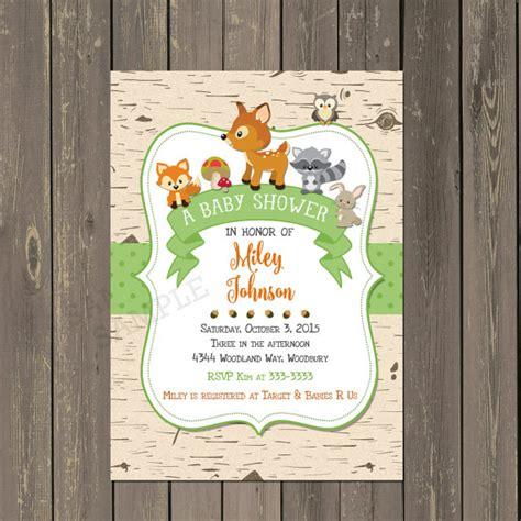 Office Depot Hours Woodland Woodland Baby Shower Invitation Woodland Animals Baby