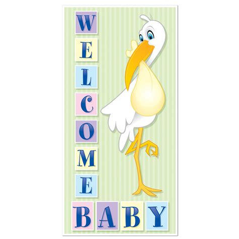 baby shower door decorations 1 baby shower decoration boy or welcome baby