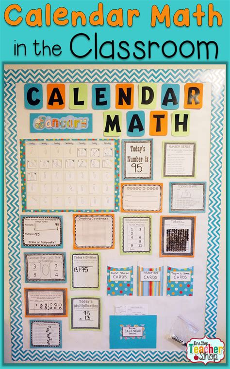 Calendar Math One Stop Shop Teaching Resources For