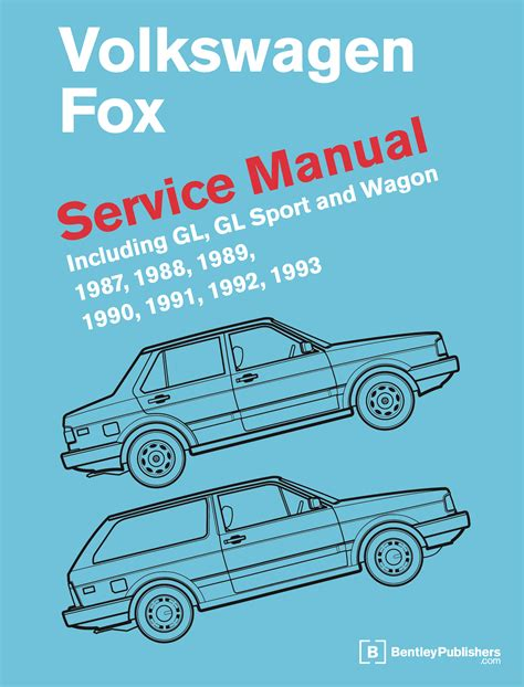 front cover vw volkswagen fox service manual 1987 1993 bentley publishers repair front cover vw volkswagen fox service manual 1987 1993 bentley publishers repair