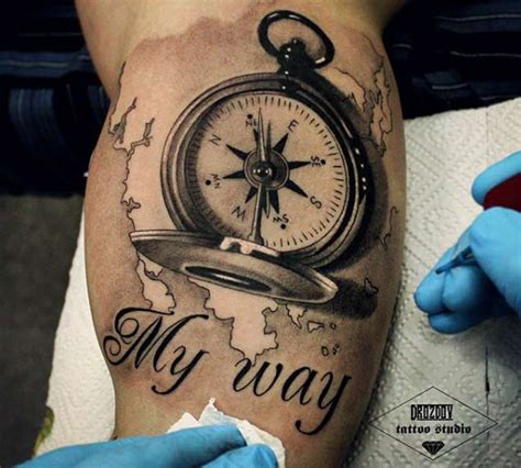 compass tattoo coordinates 42 friggin amazing compass tattoos tattooblend